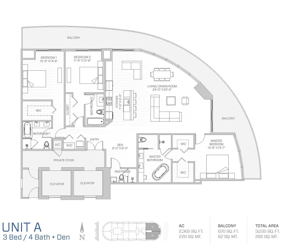 Aria on the bay melo group for Floor plans for units