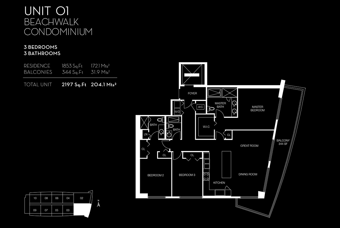 Beachwalk Floorplan Unit 01
