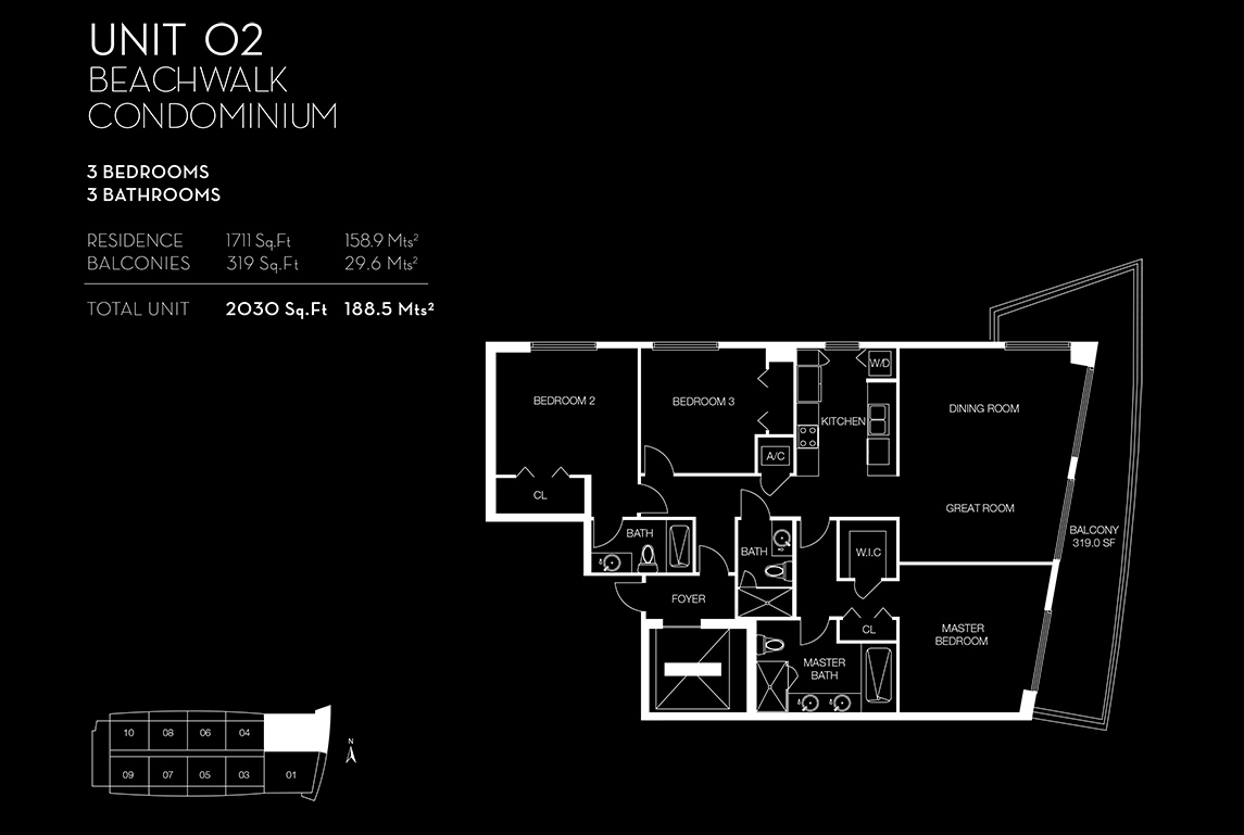 Beachwalk Floorplan Unit 02