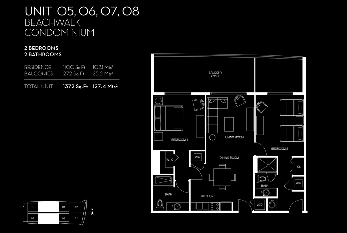 Beachwalk Floorplan Unit 05060708