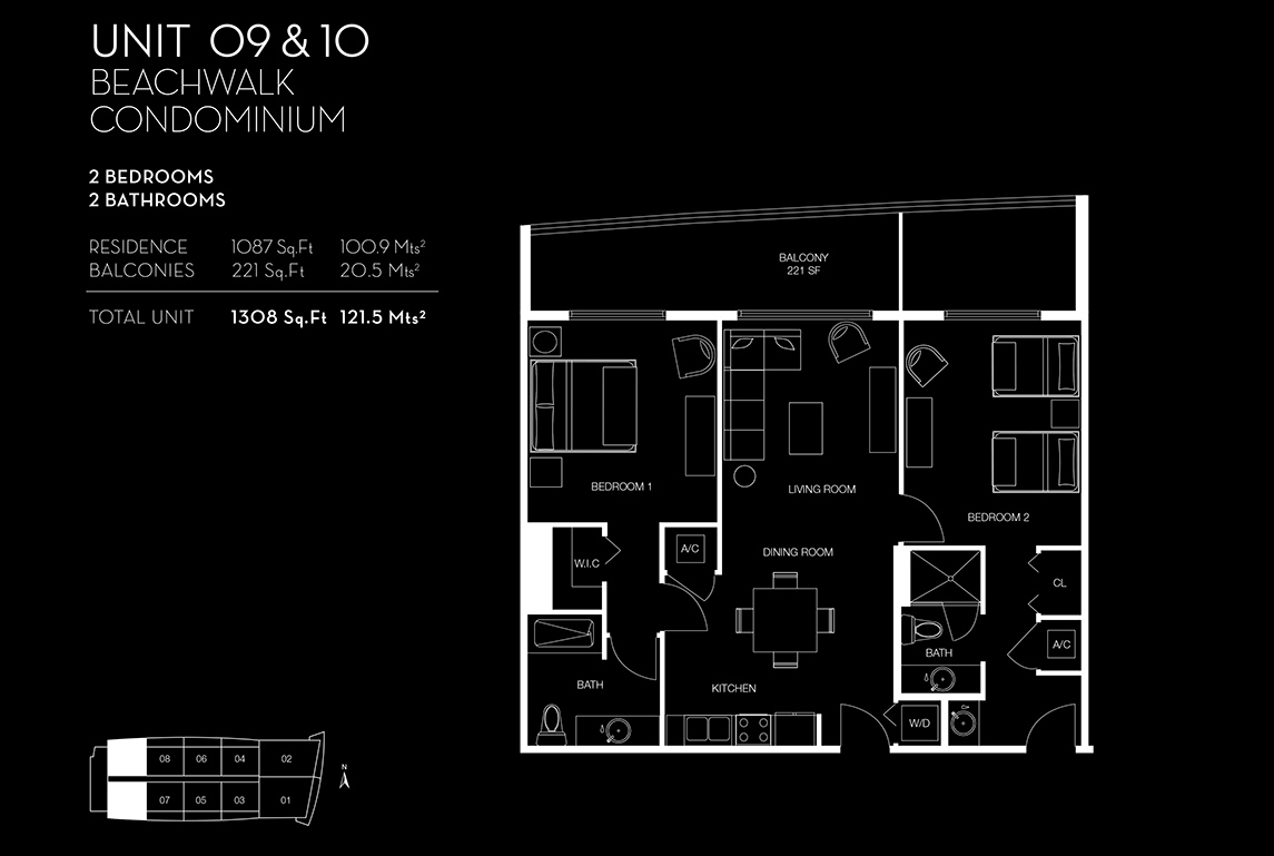 Beachwalk Floorplan Unit 09 10