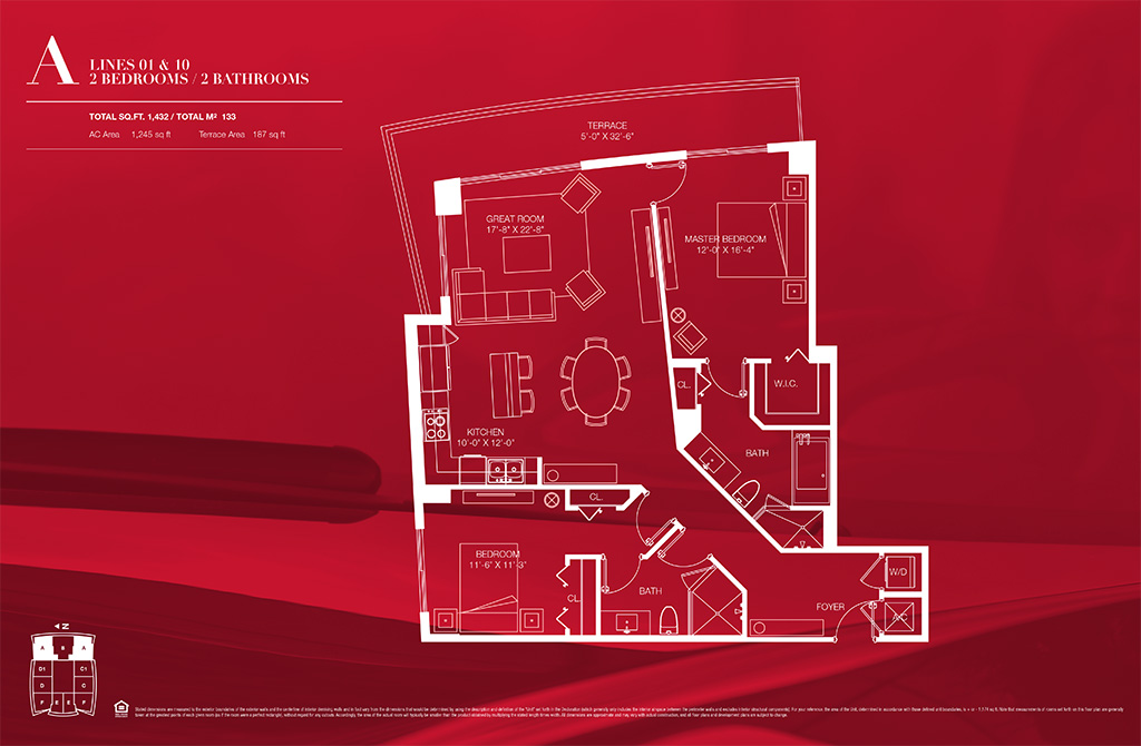 1100 millecento Floorplan A