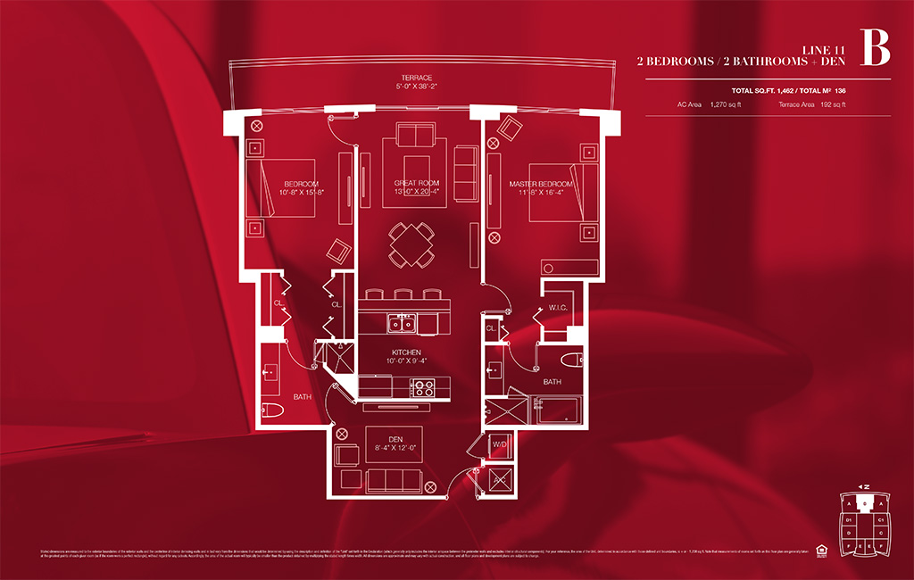 1100 millecento Floorplan B