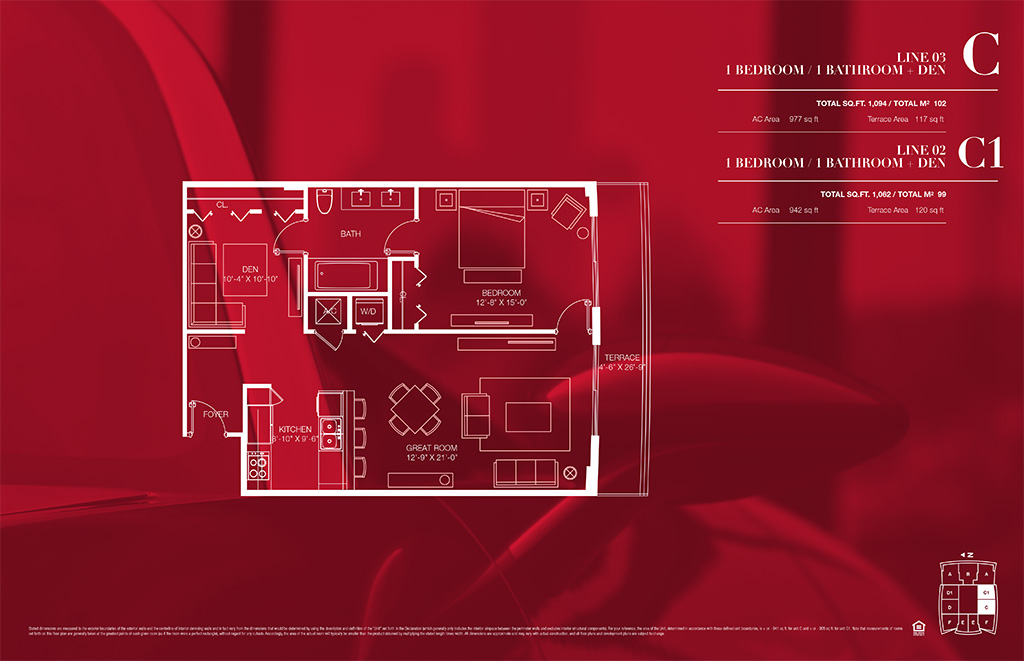 1100 millecento Floorplan C