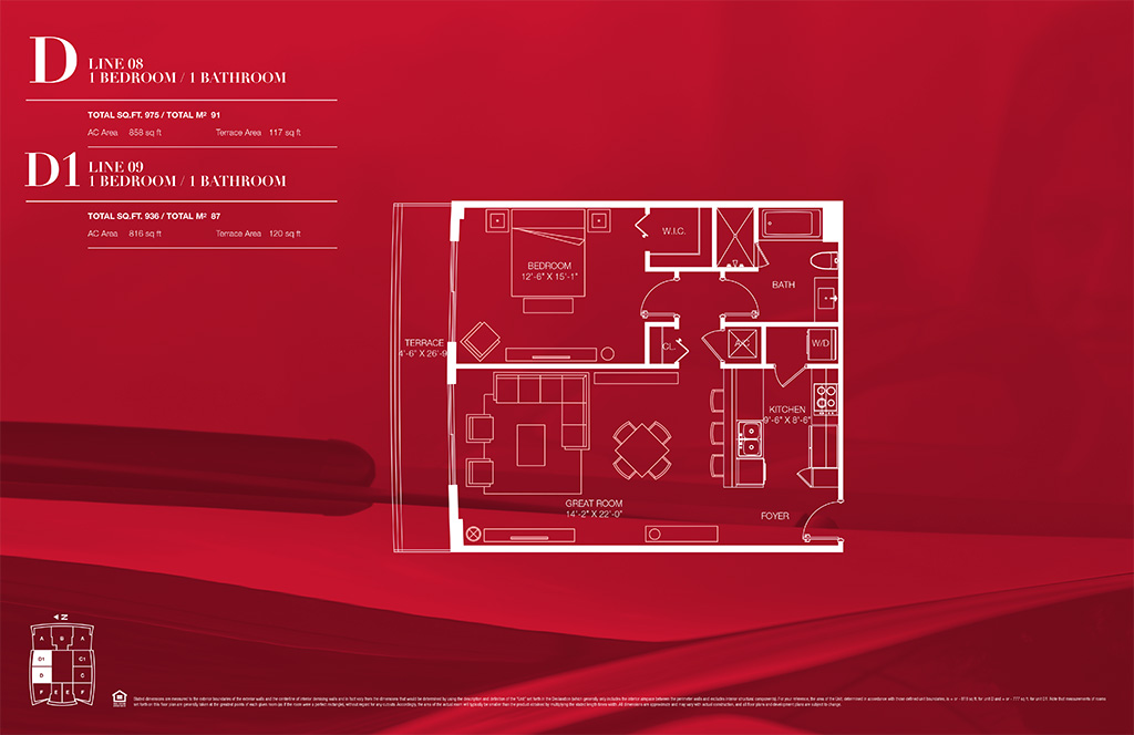 1100 millecento Floorplan D