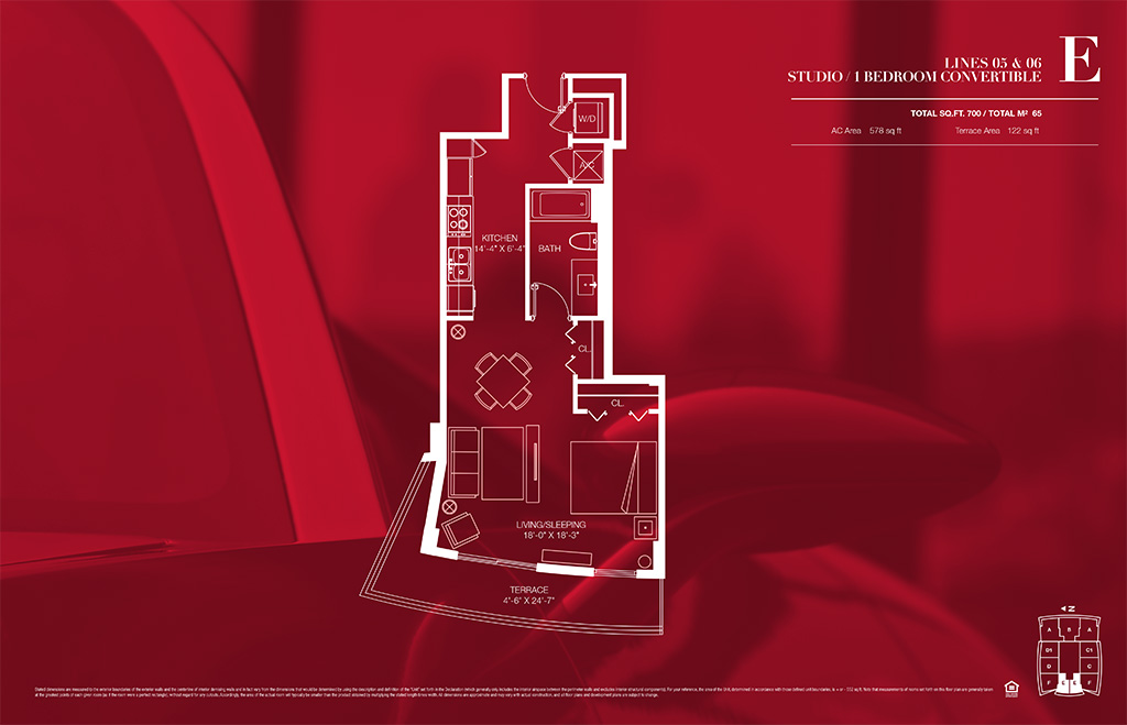 1100 millecento Floorplan E