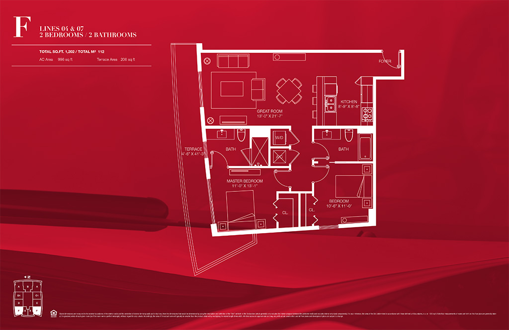 1100 millecento Floorplan F